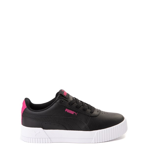 Puma Carina Athletic Shoe - Little Kid / Big Kid - Black / Pink