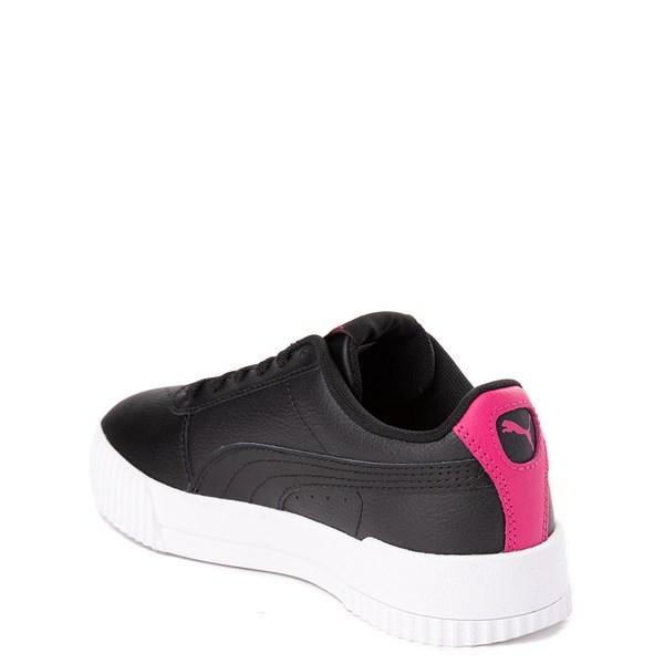 alternate view Puma Carina Athletic Shoe - Big Kid - Black / PinkALT2