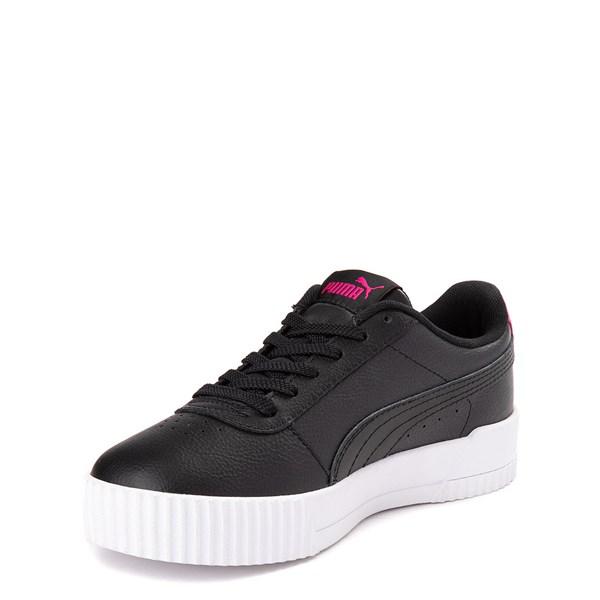 alternate view Puma Carina Athletic Shoe - Big Kid - Black / PinkALT3