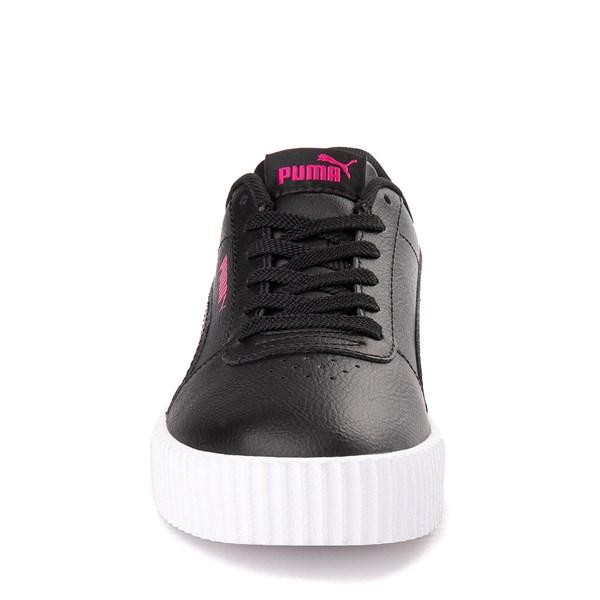 alternate view Puma Carina Athletic Shoe - Big Kid - Black / PinkALT4