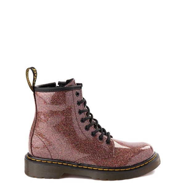 Main view of Dr. Martens 1460 8-Eye Glitter Boot - Girls Little Kid / Big Kid - Bronze