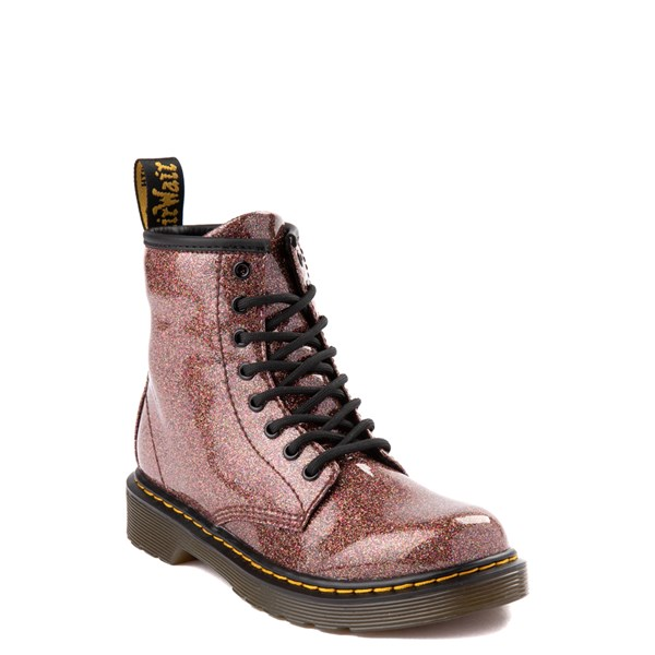 alternate view Dr. Martens 1460 8-Eye Glitter Boot - Girls Big Kid - BronzeALT1