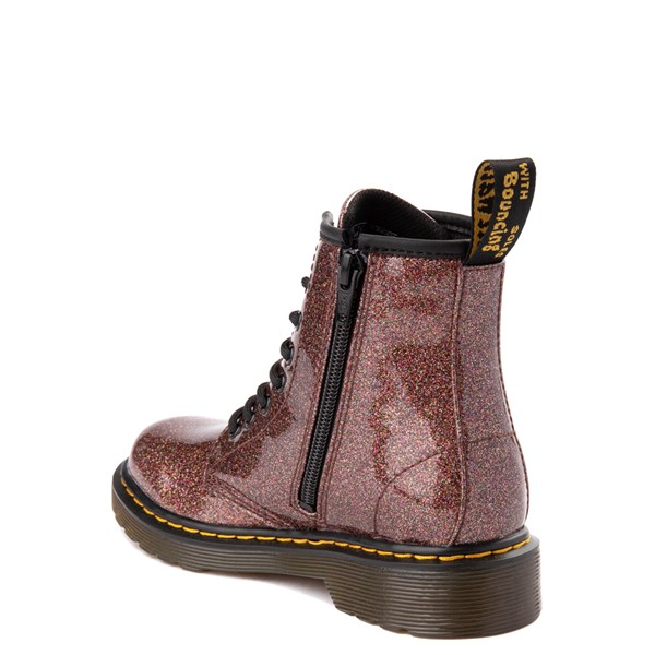 alternate view Dr. Martens 1460 8-Eye Glitter Boot - Girls Big Kid - BronzeALT2