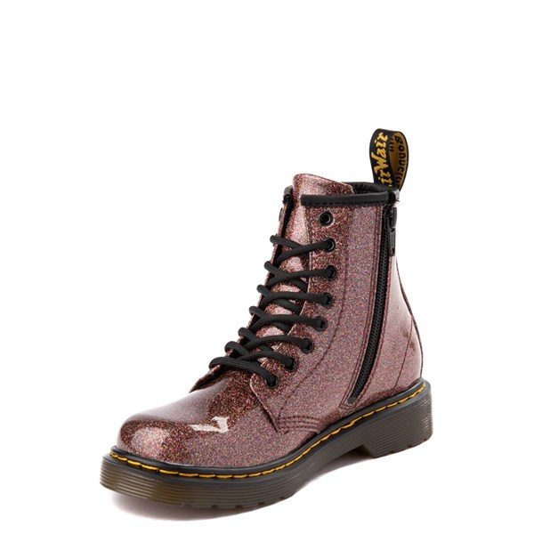 alternate view Dr. Martens 1460 8-Eye Glitter Boot - Girls Big Kid - BronzeALT3