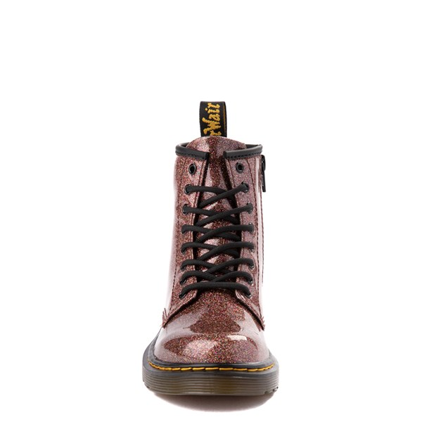 alternate view Dr. Martens 1460 8-Eye Glitter Boot - Girls Big Kid - BronzeALT4