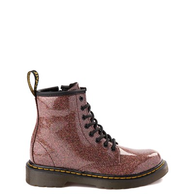 Main view of Dr. Martens 1460 8-Eye Glitter Boot - Girls Big Kid - Bronze