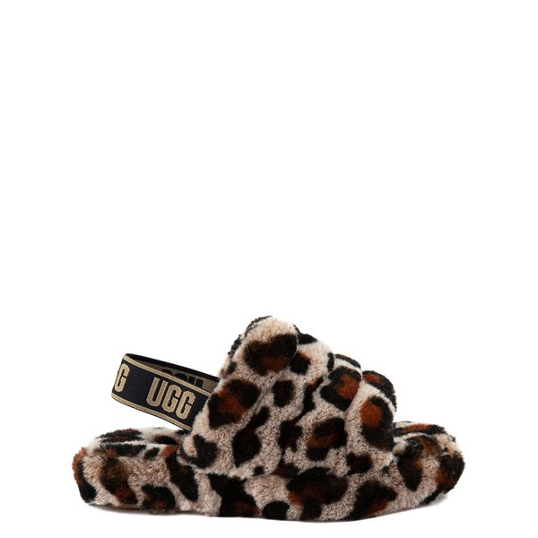 UGG® Fluff Yeah Slide Sandal - Little Kid / Big Kid - Leopard