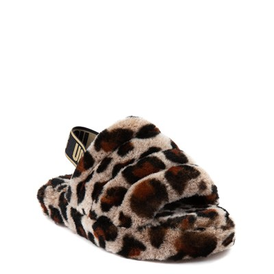 Alternate view of UGG® Fluff Yeah Slide Sandal - Little Kid / Big Kid - Leopard