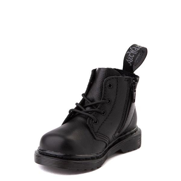 alternate view Dr. Martens 1460 Pascal 4-Eye Boot - Baby / Toddler - Black MonochromeALT3