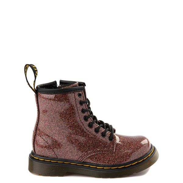 Main view of Dr. Martens 1460 8-Eye Glitter Boot - Girls Toddler - Bronze