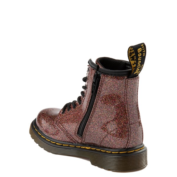 alternate view Dr. Martens 1460 8-Eye Glitter Boot - Girls Toddler - BronzeALT2