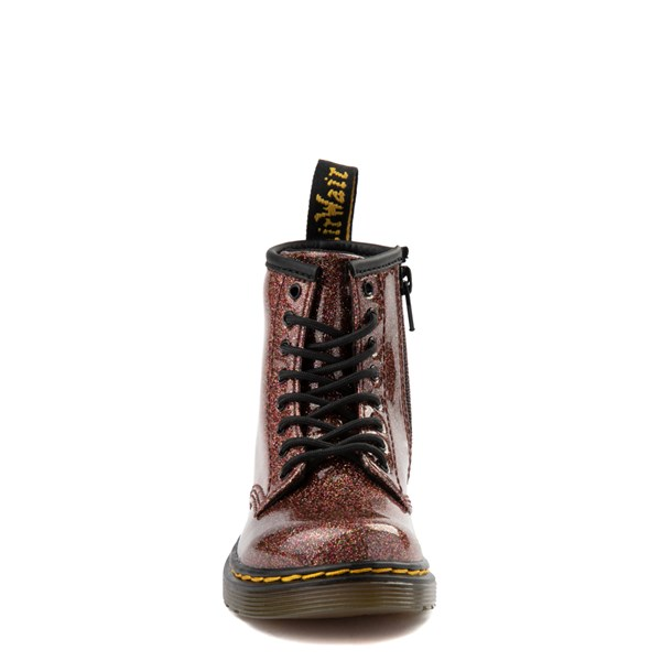 alternate view Dr. Martens 1460 8-Eye Glitter Boot - Girls Toddler - BronzeALT4