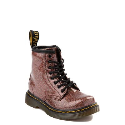 Alternate view of Dr. Martens 1460 8-Eye Glitter Boot - Girls Toddler - Bronze
