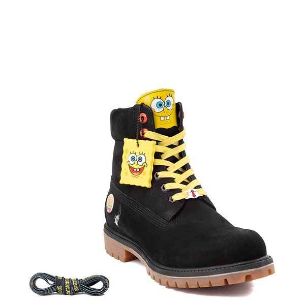 "alternate view Mens Timberland Spongebob Squarepants™ 6"" Classic Boot - BlackALT1"