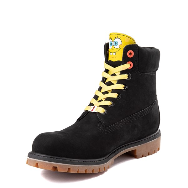 "alternate view Mens Timberland Spongebob Squarepants™ 6"" Classic Boot - BlackALT3"