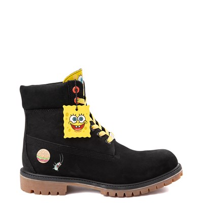 "Main view of Mens Timberland Spongebob Squarepants™ 6"" Classic Boot - Black"