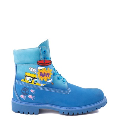 "Main view of Mens Timberland Spongebob Squarepants™ 6"" Classic Boot - Light Blue"