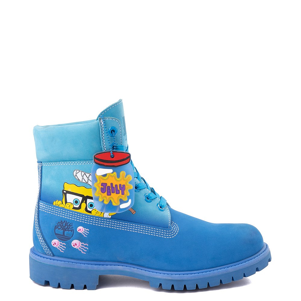 "Mens Timberland Spongebob Squarepants™ 6"" Classic Boot - Light Blue"