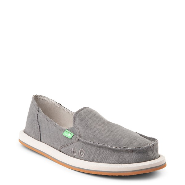 alternate view Womens Sanuk Donna Slip On Casual Shoe - CharcoalALT1