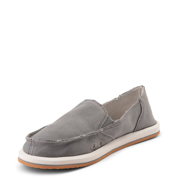 alternate view Womens Sanuk Donna Slip On Casual Shoe - CharcoalALT3