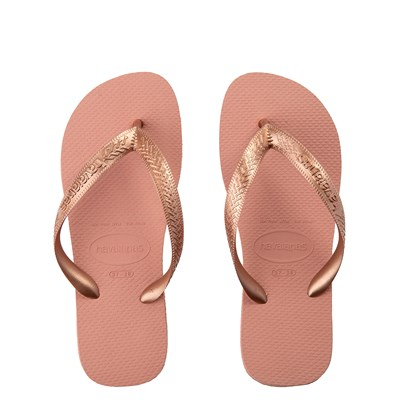 Main view of Womens Havaianas Top Tiras Sandal - Rose Gold