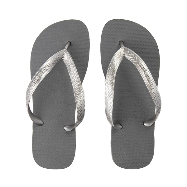 Womens Havaianas Top Tiras Sandal - Steel Gray