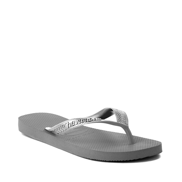 alternate view Womens Havaianas Top Tiras Sandal - Steel GrayALT5