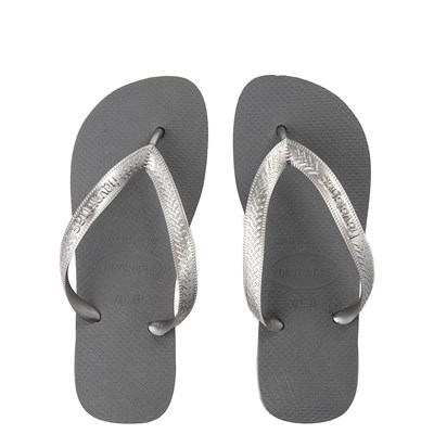 Main view of Womens Havaianas Top Tiras Sandal - Steel Gray