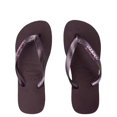 Main view of Womens Havaianas Top Logo Sandal - Aubergine