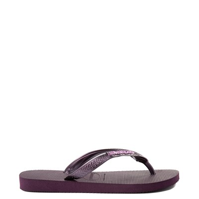 Alternate view of Womens Havaianas Top Logo Sandal - Aubergine
