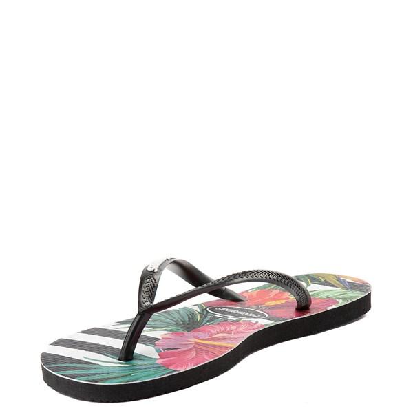 alternate view Womens Havaianas Slim Tropical Floral SandalALT3
