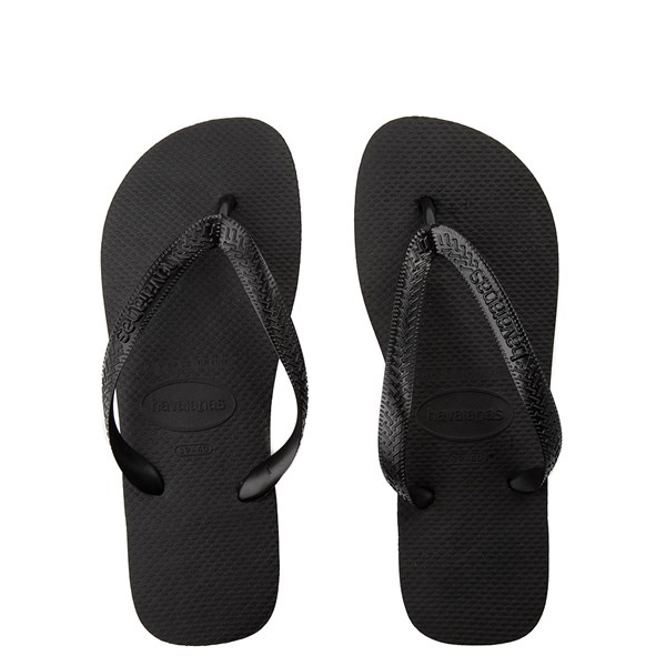 Main view of Havaianas Top Sandal - Black