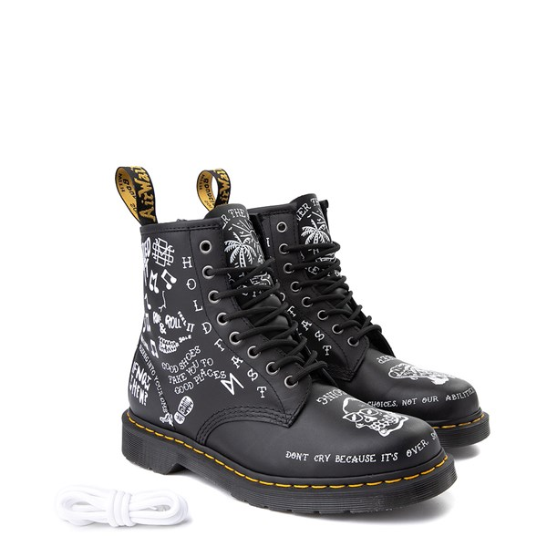 Alternate view of Dr. Martens 1460 8-Eye Scribble Boot