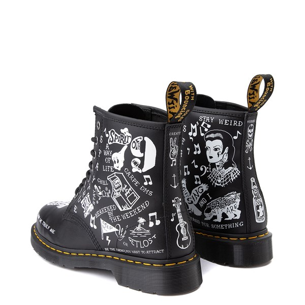 alternate view Dr. Martens 1460 8-Eye Scribble BootALT2