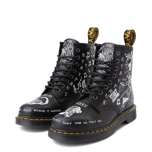 alternate view Dr. Martens 1460 8-Eye Scribble BootALT3
