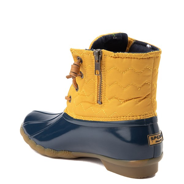 alternate view Womens Sperry Top-Sider Saltwater Quilted Nylon Duck Boot - Yellow / NavyALT2