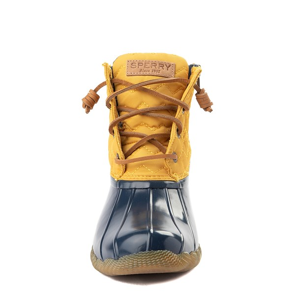 alternate view Womens Sperry Top-Sider Saltwater Quilted Nylon Duck Boot - Yellow / NavyALT4