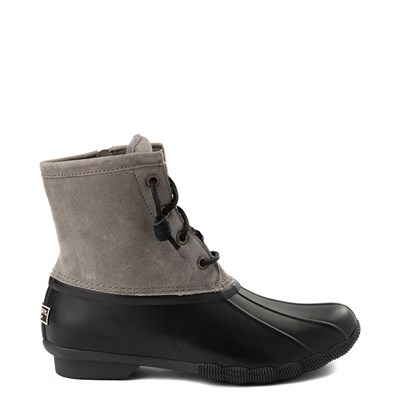 Main view of Womens Sperry Top-Sider Saltwater Boot - Gray / Black