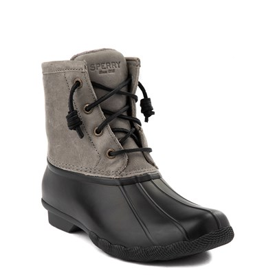 Alternate view of Womens Sperry Top-Sider Saltwater Boot - Gray / Black