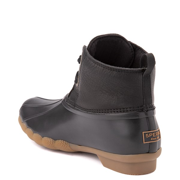 alternate view Womens Sperry Top-Sider Saltwater 2-Eye Boot - BlackALT2
