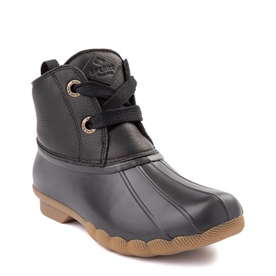 Alternate view of Womens Sperry Top-Sider Saltwater 2-Eye Boot - Black