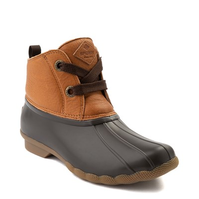 Alternate view of Womens Sperry Top-Sider Saltwater 2-Eye Boot - Tan / Brown