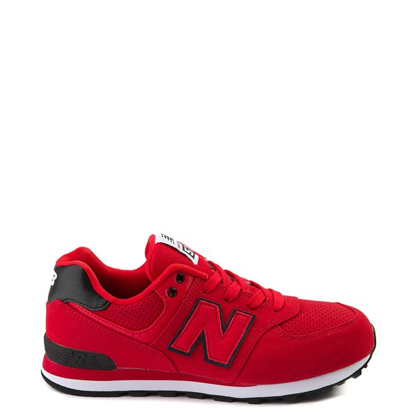 Main view of New Balance 574 Athletic Shoe - Big Kid - Red / Black