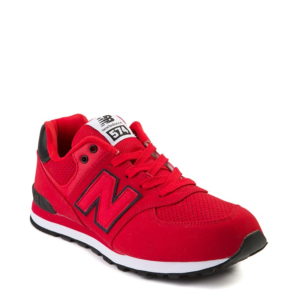 alternate view New Balance 574 Athletic Shoe - Big Kid - Red / BlackALT1