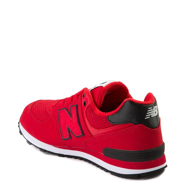 alternate view New Balance 574 Athletic Shoe - Big Kid - Red / BlackALT2