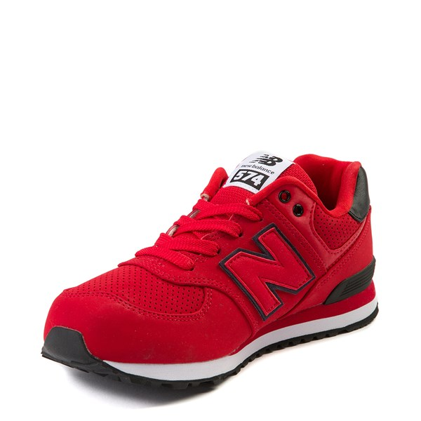 alternate view New Balance 574 Athletic Shoe - Big Kid - Red / BlackALT3