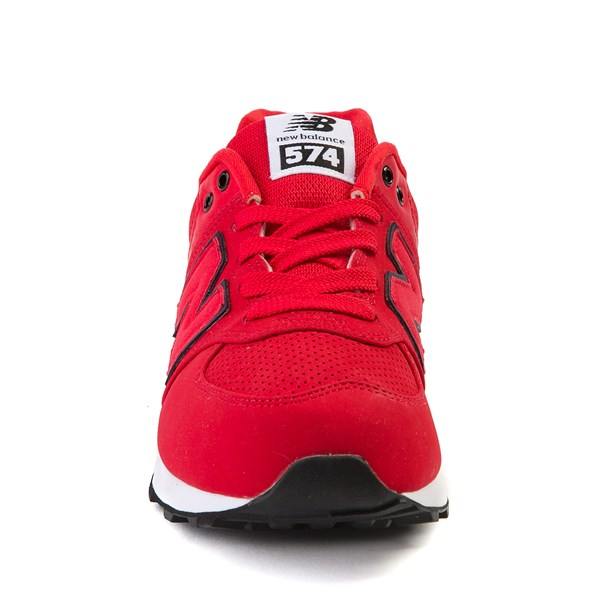 alternate view New Balance 574 Athletic Shoe - Big Kid - Red / BlackALT4