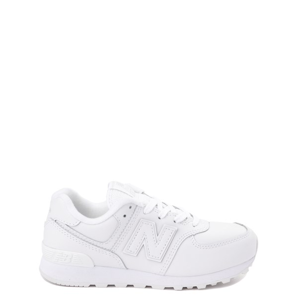 Main view of New Balance 574 Athletic Shoe - Little Kid - White Monochrome