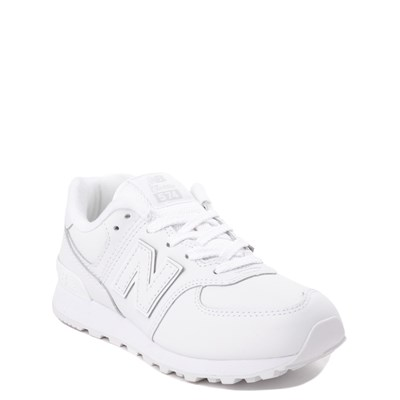Alternate view of New Balance 574 Athletic Shoe - Little Kid - White Monochrome