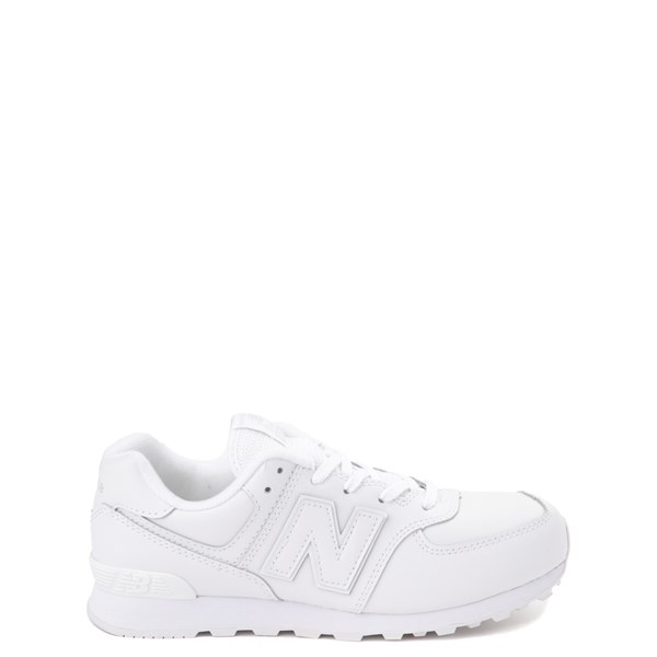 Main view of New Balance 574 Athletic Shoe - Big Kid - White Monochrome